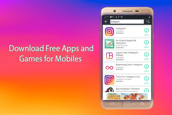Download free apps, softwares, and games for mobile